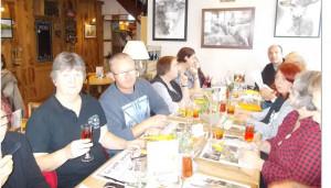 """Au restaurant de """" La Crozet des Chemins """" à Beffes , nous nous sommes régalés ..."""
