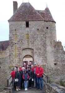 Même le pluie ne nous a pas arrêtée  , au château de la Grand- Cour  à Mornay